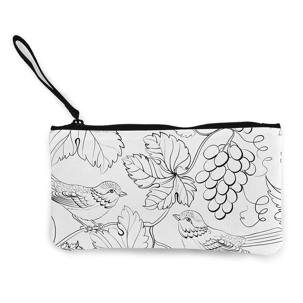 ダニスクレーパーユーザーErmiCo レディース 小銭入れ キャンバス財布 伝統的な花 小遣い財布 財布 鍵 小物 充電器 収納 長財布 ファスナー付き 22×12cm