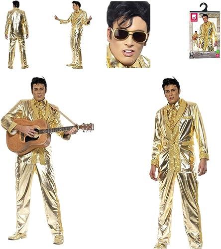 venta Fancy Dress World Elvis Presley 29394 29157 - Disfraz Disfraz Disfraz de Elvis Presley para Hombre, Color Dorado  Mercancía de alta calidad y servicio conveniente y honesto.