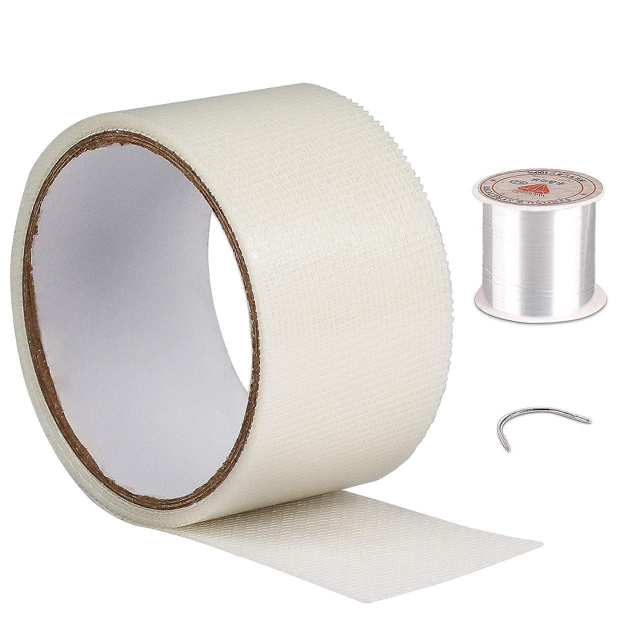 網戸 張り替え 網戸パッチ 網戸補修シート 網戸補修テープ ガラス繊維メッシュタイプテープ 防水 強粘着性 網戸の破れを張るだけで簡単補修 小さな虫を避け ホワイト(5 x 200cm)