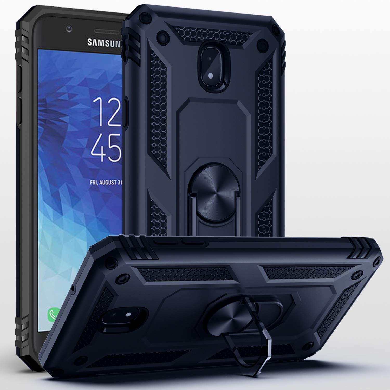 Galaxy J7 2018 Case,Samsung Galaxy J7 Aero/J7 Top/J7 Crown/J7 Aura/J7 Refine/J7 Star/J7 Eon Case,SUSAA 360 Degree Rotating Ring Holder Kickstand Case for Galaxy J7 2018 Navy Blue