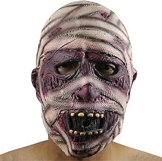 Hollazilla ハロウィン いたずら 小道具 マスク 環境保護 ラテックスマスク ダンスマスク 悪魔 ミイラ しかめっ面 トリッキー