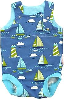 Kleine Könige Baby Strampler Junge Sommer Baby Body  Modell Bootsfahrt türkis  Ökotex 100 zertifiziert  Größen 50-92