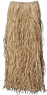 Loftus Luau Hula Girl Genuine Raffia Grass Skirt, Natural, 36