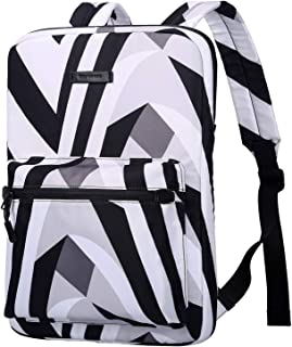 Cartinoe Slim Sleeve Case Style Laptop Backpack Business Travel Backpack College Backpack Computer Backpack Casual Daypack School Bookbag for Teenage Girls Boys fit 15 15.6 inch Notebook -Zebra-Striped