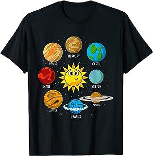 Espace Soleil Planètes Enfant Astronaute Système Solaire T-Shirt
