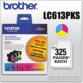 Brother Genuine Standard Yield Color Ink Cartridges, LC613PKS, Replacement 3 Pack of Color Ink, Includes 1 Cartridge Each ...