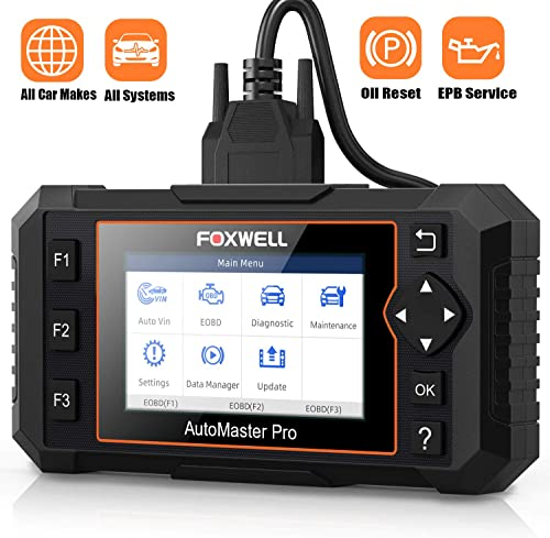 2021 FOXWELL Obd2 Scanner All Systems new arrival Diagnostic Scan Tool for All Cars, with outlet online sale EPB Reset and Oil Service Light Reset, Code Reader for Check Engine Tran Chassis HAVC Headlamp( NT624Elite English & Spanish) online sale