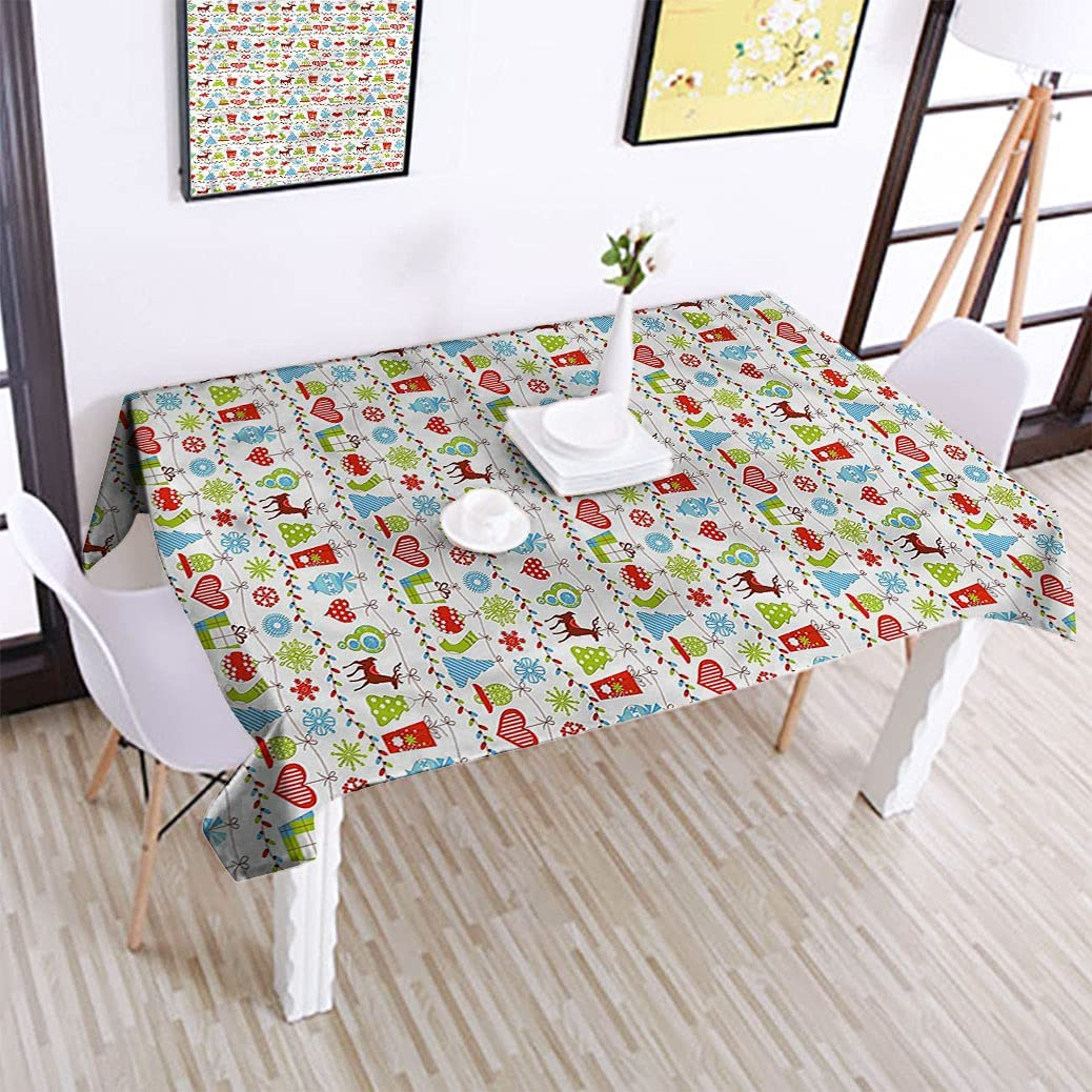 Alexdemo Christmas Oblong Tablecloths 60