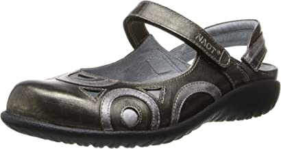 Naot Women's Rongo Mary Jane Flat,Metal Leather/Mirror Leather/Sterling Leather,40 EU/8.5-9 M US