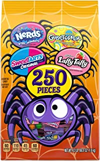 Ferrara Candy Company Assorted Halloween Candy Variety Bag, Nerds, SweeTARTS, Gobstopper & Laffy Taffy, 68.9 Ounce, 250 Pi...