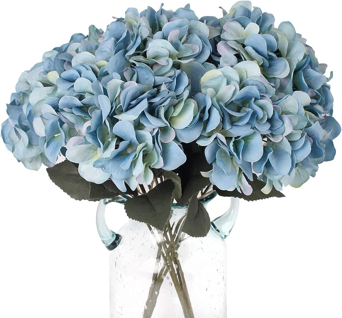 Full Head with or without stem Silk Flower Cream Cone Hydrangea Bunch Artificial Flower