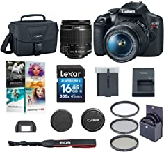 $449 Get Canon EOS Rebel T7 24.1MP DSLR Camera with EF-S 18-55mm f/3.5-5.6 is II Lens - Bundle with 58mm Filter Kit, Camera Case, 16GB SDHC Card, Pc Software Packge