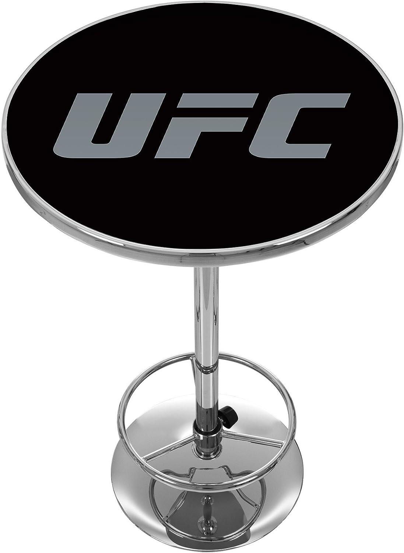 UFC Chrome Pub V1 Table, One Size, Black