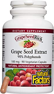 GrapeSeedRich by Natural Factors, Grape Seed Extract, Antioxidant Support for Healthy Inflammatory Response, 90 capsules (...