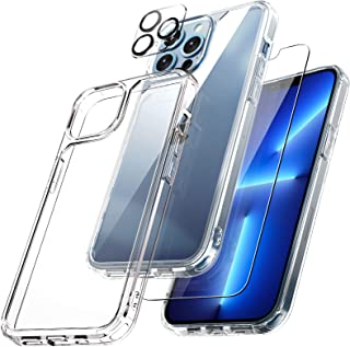 TAURI [3 in 1] Defender Designed for iPhone 13 Pro Max Case 6.7 Inch, with 2 Pack Tempered Glass Screen Protector + 2 Pack...