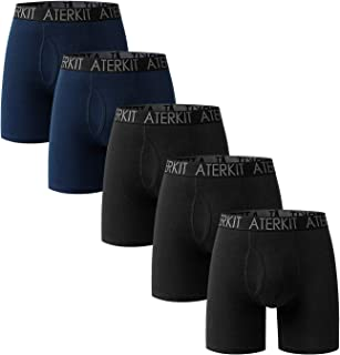 Men's Underwear Boxer Briefs Cotton Underwear for Men Black CS702