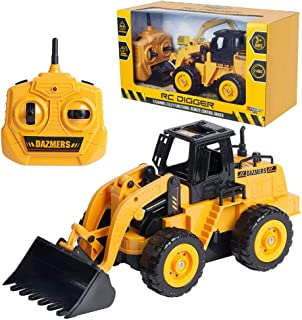 Build Me RC Excavator Toy - Hours of Fun with Fully Functional Remote Control Front Loader Tractor - Scoop, Load, Carry and Dump Sand, Dirt, Rocks, Beans