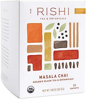 Rishi Tea Masala Chai Herbal Tea | Immune Support, USDA Certified Organic, Fair Trade Black Tea Blend, Highly Caffeinated,...