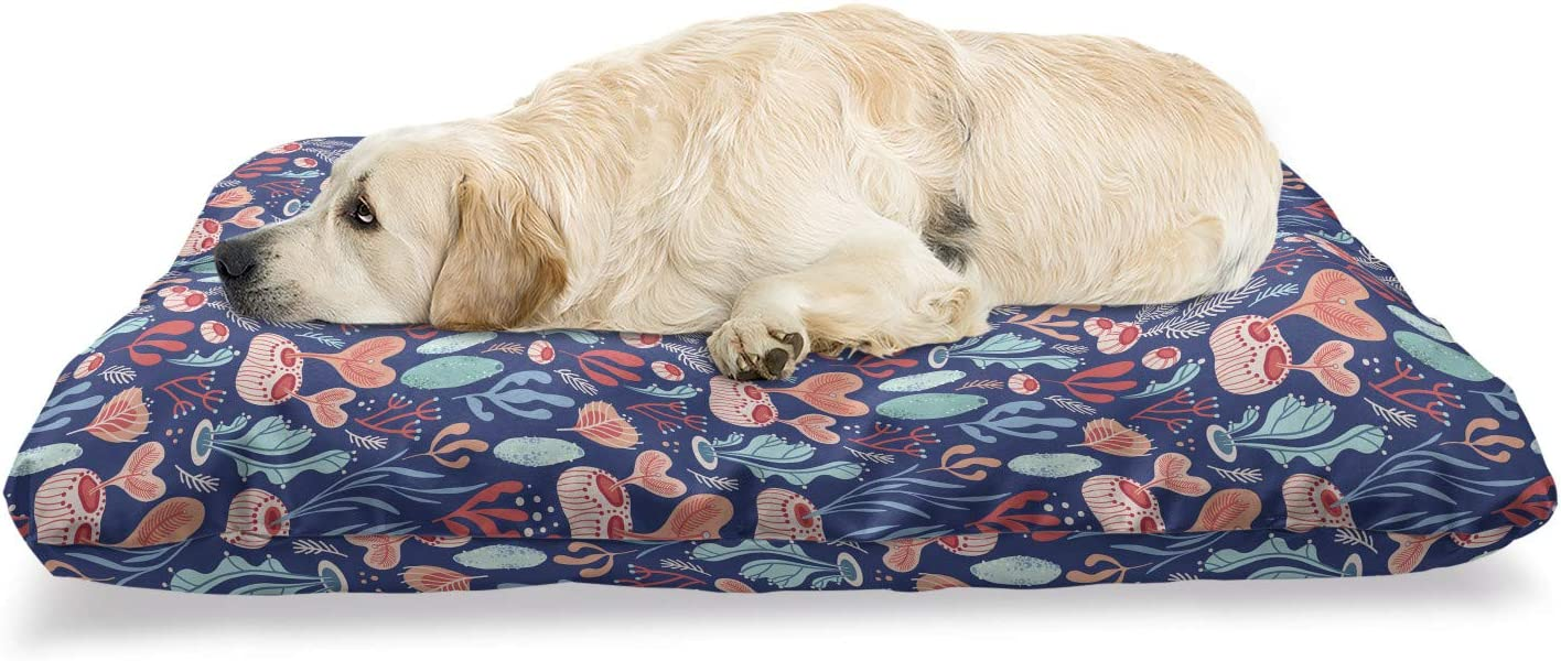 Ambesonne Nautical Pet Bed Underwater and Max 48% Free shipping OFF Plantat Herbs Berries