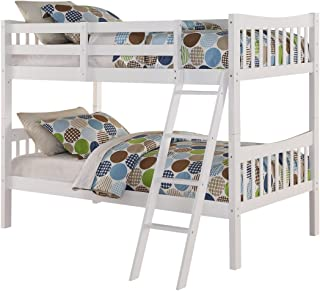 Angel Line Fremont Twin Over Twin Bunk Bed, White