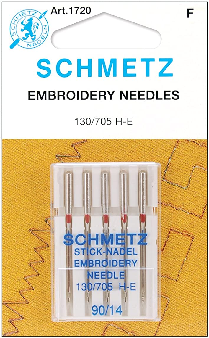 Euro-Notions Embroidery Machine Needles (Size 14/90) - 5 per Package