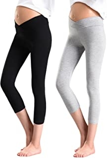Foucome Women's Maternity Leggings Under The Belly Lightweight Pregnancy Stretch Yoga Pants