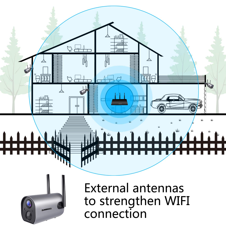 Cámara de seguridad inalámbrica para exteriores con WiFi, batería ...