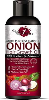 Seven Skies Onion Hair Growth Oil With Blend Of Essential Oils For Promotes Hair Growth - Controls Hair Fall & Dandruff Fo...