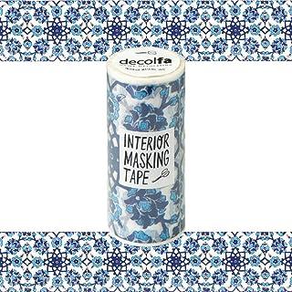 ニトムズ decolfa インテリア マスキングテープ タイルブルー きれいにはがせる 幅10cm×長さ8m M3700