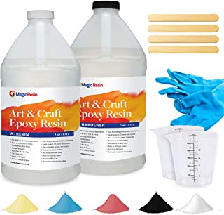 Epoxy Resin Kit for Art & Craft | 2 Gallon (7.6 L) | Zero VOC & Odorless | Crystal Clear Epoxy Resin | For Jewelry, Earrin...