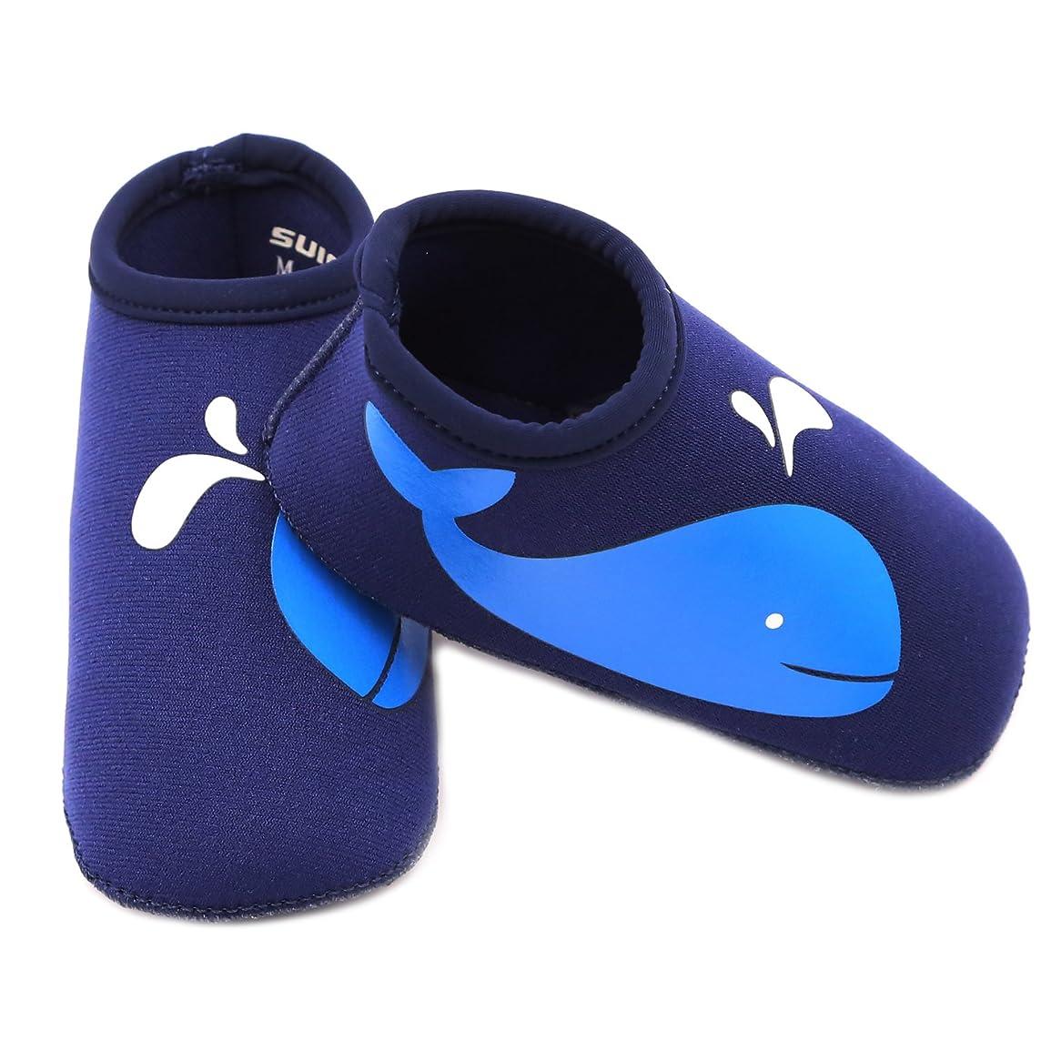 SUIEK Baby Boys Girls Swim Water Shoes Infant Pool Beach Sand Barefoot Aqua Socks