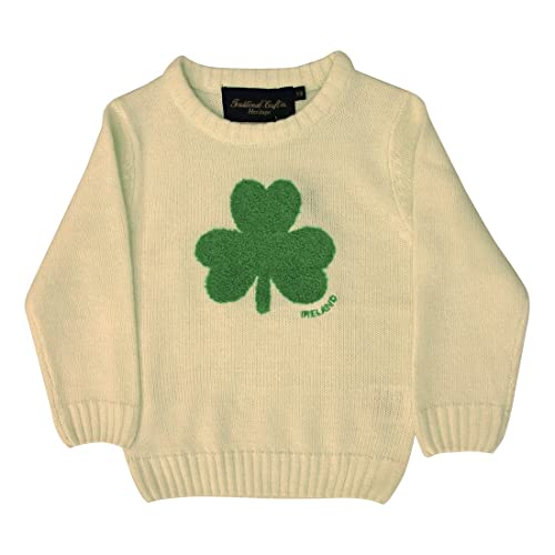Kids Fleece Hoodie Green Traditional Fluffy Sheep Half Zip Irish Hooded Sweater