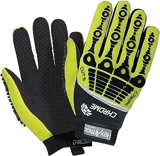 HexArmor 4026 Chrome Series Mechanics Cut 5 Impact Cut Puncture Resistant Gloves 9 Large