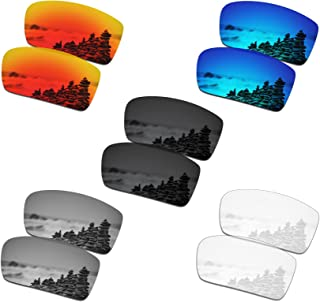 Set of 5 Men's Replacement Lenses for Oakley Gascan Sunglass Combo Pack S01