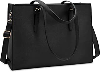 Laptop Bag for Women Waterproof Lightweight Leather 15.6 Inch Computer Tote Bag Business Office Briefcase Large Capacity H...