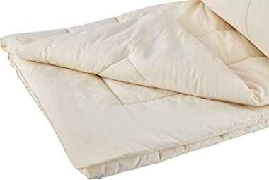 Sleep and Beyond Wool Comforter, 100% Natural Washable Wool Duvet, Full/Queen, 90x90in