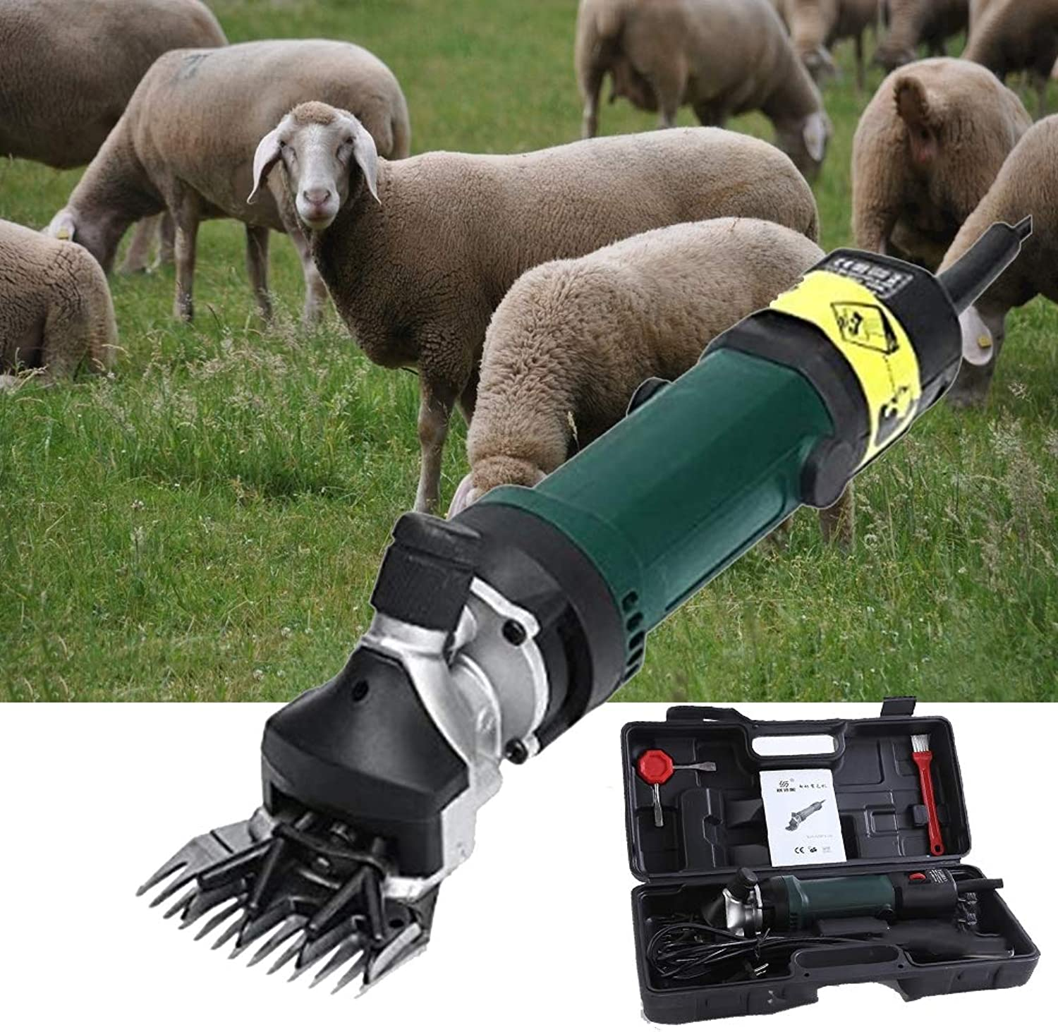 LXJLD 320W Sheep Shears Goat Clippers Animal Shave Grooming Farm Supplies Livestock Sheep Shears for Grooming,B