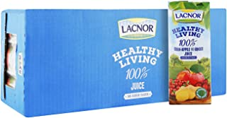 Lacnor Healthy Living 100% Cran Apple with Ginger Juice, 24 x 250 ml