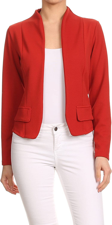 MissMissy Womens Casual Business Slim Long Miami Mall Jac Blazer Sleeve Fit Very popular!