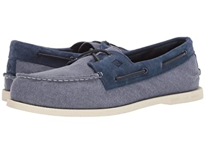 Sperry A/O 2-Eye Linen (Navy) Men
