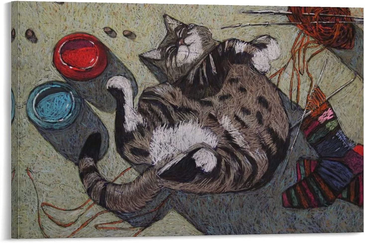 NEW before selling Boxyouping Cat Cute Woolen Yarn All stores are sold Wallpaper Watercolour Funny Cozy