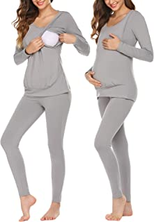 Ekouaer Women's Thermal Underwear Set Long Johns Top & Bottom Winter Base Layer Sets