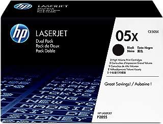 HP 05X | CE505XD | 2 Toner Cartridges | Black | High Yield
