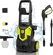 1500W 120Bar 420L/H Electric Pressure Washer Portable Patio Cleaner Car Power Washer Jet Washer with brush, Turbo Nozzle, ...