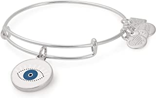 Alex and ANI Women's Charity by Design Meditating Eye Color Infusion Bangle Shiny Silver One Size