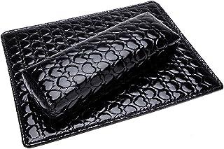 RETYLY ソフトハンドクッション枕とパッドレストネイルアートアームレストホルダー マニキュアネイルアートアクセサリー PUレザー 黒