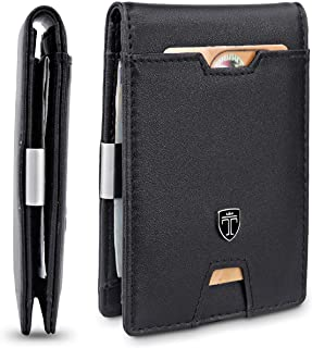 TRAVANDO Mens Wallet Money Clip PHOENIX Front Pocket Wallet Slim Wallet RFID Bifold Credit Card Holder Gifts for Men