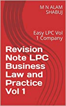 Revision Note LPC Business Law and Practice Vol 1 : Easy LPC Vol 1 Company (English Edition)