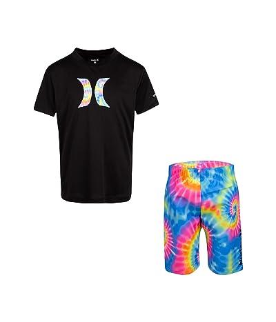 Hurley Kids UPF 50+ T-Shirt and Swim Trunks Set (Little Kids) (Multi) Boy