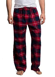 Men's 100% Cotton Super Soft Flannel Plaid Pajama Pants